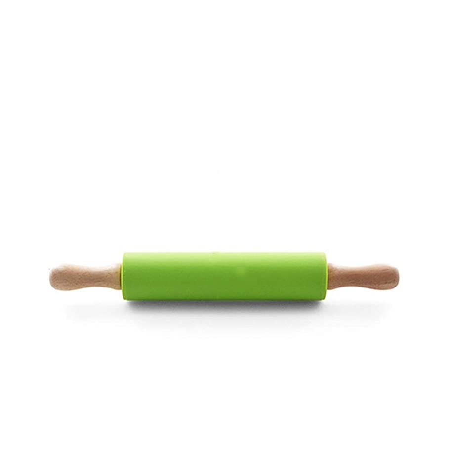 誤解するオーディション代わりにを立てるめん棒 ソリッドウッド家庭用大型と小型固体商業美容室は台所ベーキング麺棒を調整します 木製麺棒 (色 : Wood, Size : 31x4cm)