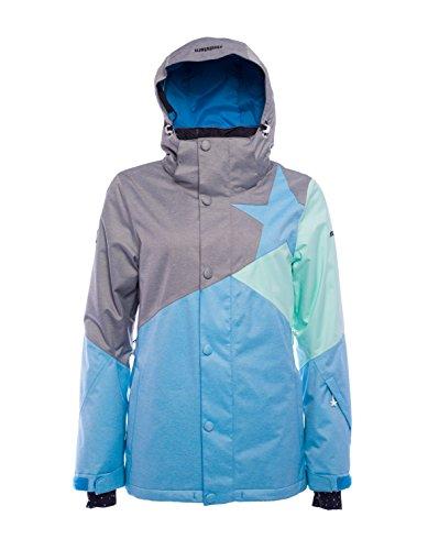 Zimtstern Damen Zarin Snow Jacket, Black Twotone, S