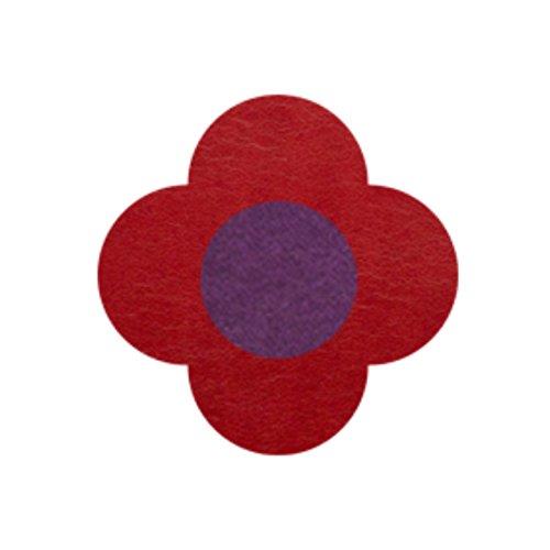 AMANOGAWA ブートニエール 132色 レザー 革 タックピン ラペルピン ブローチ ピンブローチ メンズ レディース 花 赤 レッド 紫 パープル