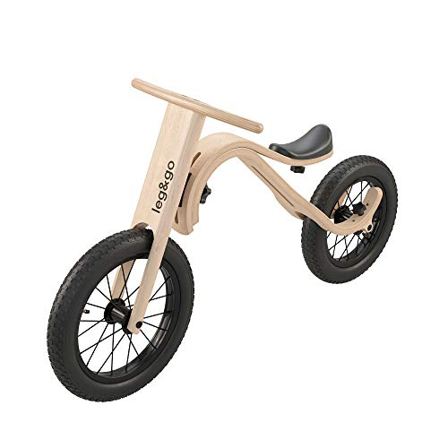 leg&go Laufrad aus Holz, Kinder Laufrad, 1-5 Jahre