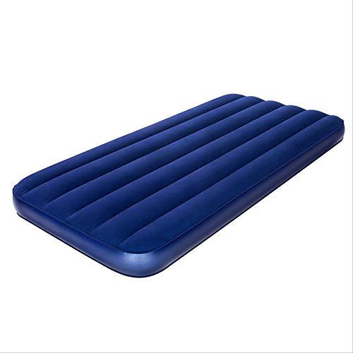 gzadq Samt Aufblasbares Bett Einzel Doppel-Luftkissen Matratze 191 * 137 * 22cm Blau.