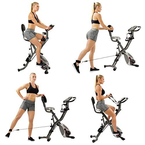 Sunny Health & Fitness Foldable Semi-recumbent Bike