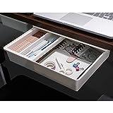 blue burps Under Desk Drawer, Organized Under Desk Storage, EZ to Install Under Table Drawer, Pencil Drawer for Office/Bedroom/Study Room/etc, Attachable Desk Drawer, White Large