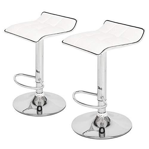 Yi-xir klassisches Design 2 Soft-Pack-Board Kurving Fußleiste Hocker PU Stoff Weiß Perfekt und komfortabel