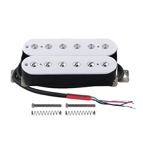 Fltaheroo Pastilla de guitarra eléctrica Humbucker puente Alnico V, color blanco