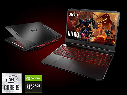 Product Image 2: Acer Nitro 5 Gaming Laptop, 10th Gen Intel Core i5-10300H,NVIDIA GeForce GTX 1650 Ti, 15.6″ Full HD IPS 144Hz Display, 8GB DDR4,256GB NVMe SSD,WiFi 6, DTS X Ultra,Backlit Keyboard,AN515-55-59KS