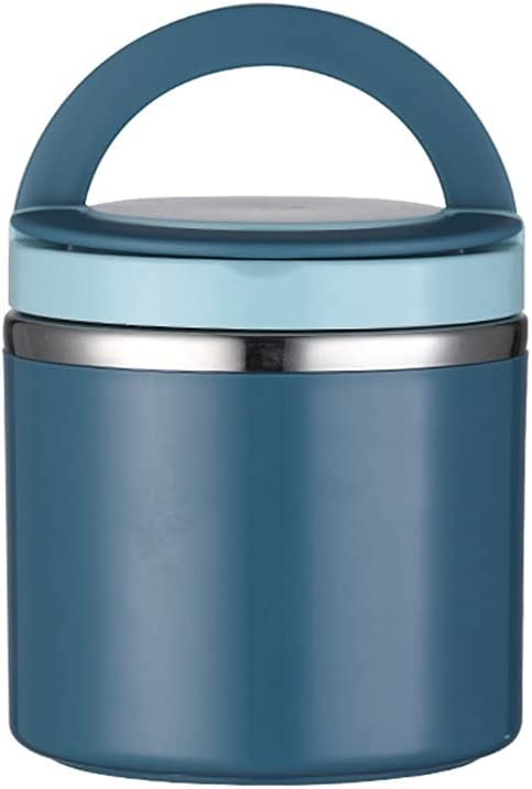 U-BUYHOUSE Soup Thermos Food Jar Insulated Lunch Container Bento Box for Cold Hot Food Food Flask Wide Mouth Stainless Steel Vacuum Lunch Box for Kids Adult with Spoon Flexible Handle Leak Proof