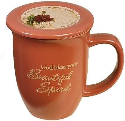 Abbey Gift Abbey Press Abbey Ca Gift Beautiful Spirit Mug And Coaster Set 4 By 4 38 Brown Abbey Press Kitchen Dining Amazon Com