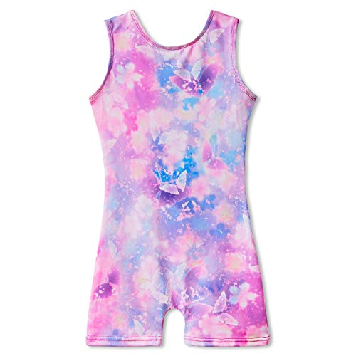 Dance Leotards for Girls 6-7 Years Old Kids Gymnastics Tumbling Biketards Bodysuits Unitards Floral Butterfly Maryland