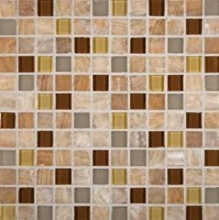 MS International Honey Onyx Caramel Mosaic 1 in. x 1 in. Glass-Stone Floor And Wall Tile - Lot of 50 sqf