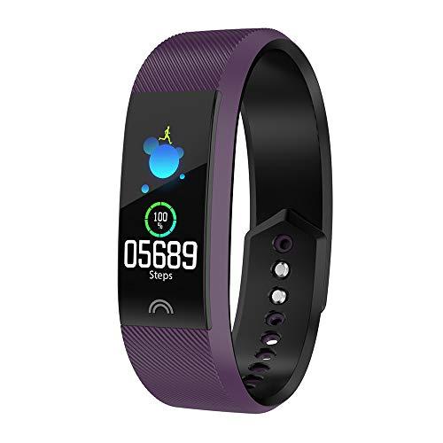 Fitness-tracker 2019, ultradünnes intelligentes Armband,mit Blutsauerstoffsättigung, Herzfrequenzmessung, Schrittzähler, Schwimmen, wasserdichte Herren- und Damen-Sportuhr- (6 Farben optional)