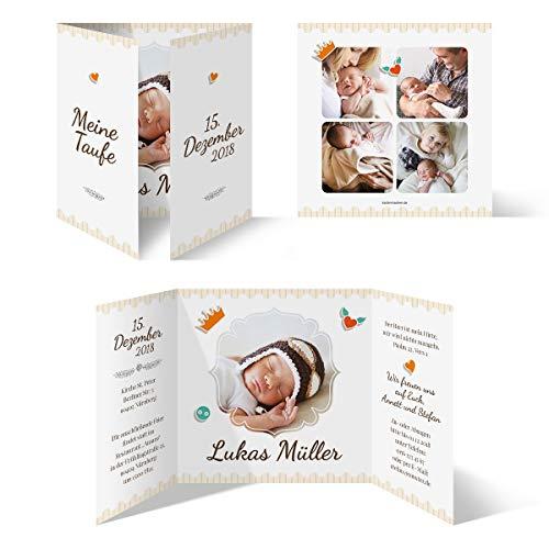 10 x Taufkarten Taufeinladungen Einladungskarten Taufe Einladung - Federnkönig
