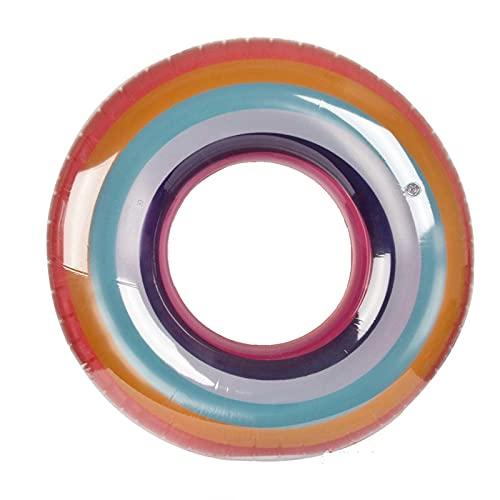 Gcxzb Fila Flotante Inflable Anillo de natación Inflable Gigante Impreso Natación Impreso para Adultos y niños Party Point Float Float Tube Tube Toys Tounger (Color, Size : A)