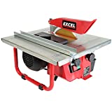 Excel Electric Wet Tile Cutter 600W Heavy Duty Tile Cutting Machine 180mm Diamond Blade with Water Cooling System