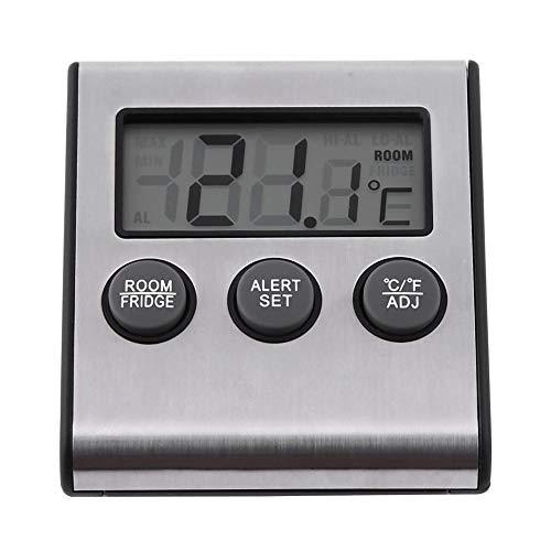 Digital LCD Kühlschrank Temperatur Kühlschrank Gefrierschrank Raumthermometer mit Magnet und Standfuß Passt zur Temperaturmessung im Kühlschrank,Gefrierschrank,Innenraum