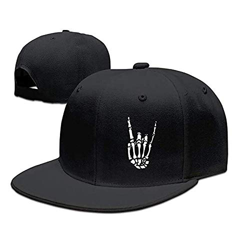 Snapback Hats for Men Baseball Cap Adjustable Flat Bill Trucker for Dad (Husband,Boy Friend,Brother,Uncle,Grandfather,Grandpa) Black
