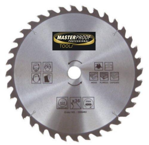 Masterproof lame de scie circulaire spécial trempé - 350 mm, 36 dents pour bois, handkreis et scie circulaire de table)
