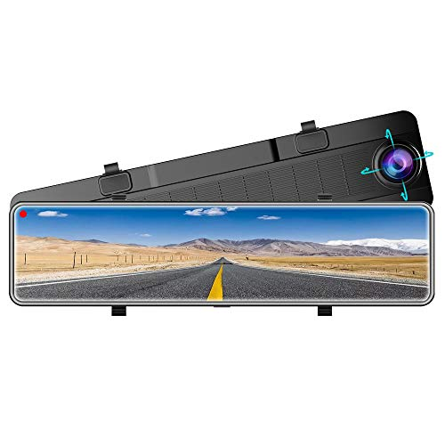 Karsuite M9 Mirror Dash Cam 2560x1440P Dash Camera for Cars 12' Touch Screen Support 170° Wide...
