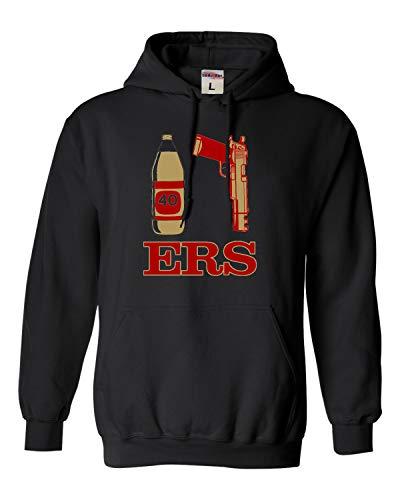 Go All Out XXX-Large Black Adult San Francisco 40oz 9mm Sweatshirt Hoodie