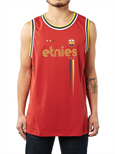 etnies - T-shirt Homme Millwall Tank - Rouge (Red/Navy) - Medium