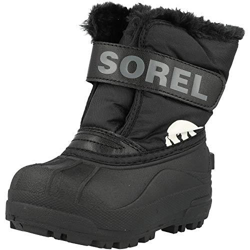 Sorel Childrens Snow Commander, Botas de Invierno Unisex bebé, Negro (Black, Charcoal), 26 EU