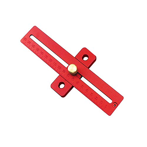 CarAngels 木工定規 ゲージ スライディングスコヤ 大工の測定およびマーキング用 T型ケージ 大工直角定規 ケガキ工具 アルミ製 (200MM)