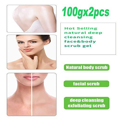 Sumeitang 2 Pcs Face and Body Scrub Gel Deep Cleaning Exfoliating Body Face Scrub Facial Exfoliator Full Body Wash Scrub for Healthy-Looking Skin - Lemon