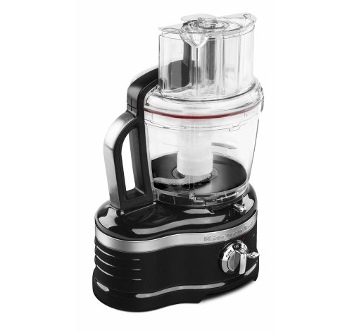KitchenAid 16-Cup Food Processor w/Die Cast Metal Base & Commercial-Style Dicing Kit KFP1642OB Pro Line Series, Onyx Black