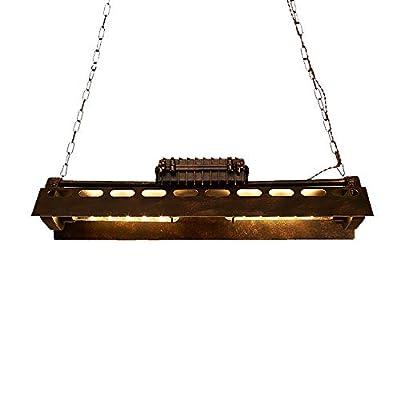 Windsor Home Deco Loft Industrial Hanging Pendant Chandelier, Wrought Iron Rectangle 4-Light Edison Ceiling Pendant Lights Fixture for Dining Room Restaurant Bar Art Lighting