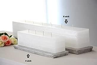 Vance Kitira Layered Brick Candle (4 Wick - White)