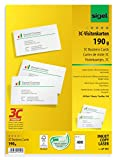 SIGEL LP791 Tarjetas de visita, 3C, 85x55 mm (A4), 190 g, 400 unds.=40 hojas