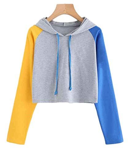 Ropa Deportiva, Damas, suéter Corto para Mujer, Deportes Chaqueta Transpirable de Manga Larga para Correr la Chaqueta de Fitness C1-Large