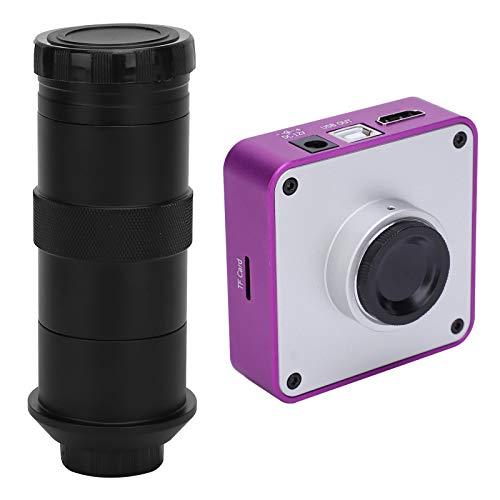 Qqmora Enchufe Europeo del microscopio del Ocular Digital para la reparación del teléfono móvil para la joyería para los entusiastas del Bricolaje