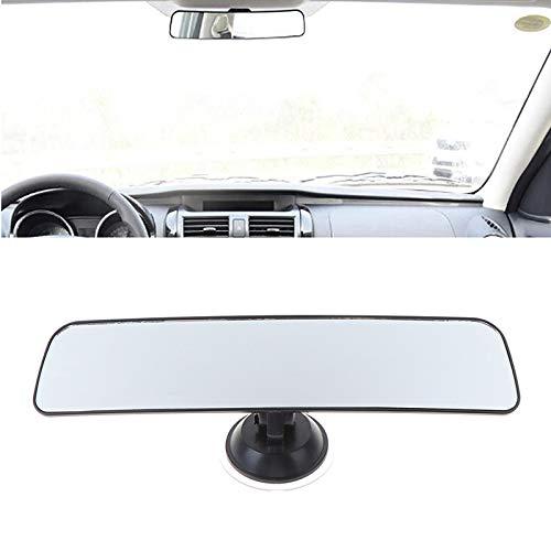 IUEFINUEN 28 * 6cm Weitwinkel Rückspiegel mit Sauganlage Auto-Innenspiegel Rückspiegel Panorama Rückspiegel