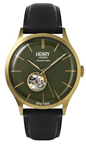 Henry London Reloj Analógico para Hombre de Cuarzo con Correa en Cuero 5018479086017