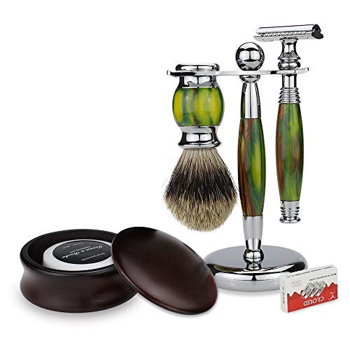 Mannen baard scheren Set Veiligheid Brush Bowl Soap Stand Men's Razor Kits Brush Holder + Zeep Bowl baard scheren Set Gereedschap