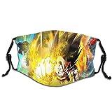 Edmundy Dragon-Ball Novetly Gesichtsmaske, warm, wiederverwendbar, Mundschutz, Outdoor-Mundschutz, für Babys und Frauen, 1 Stück