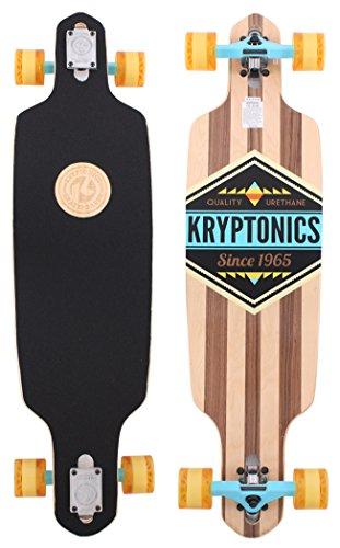 Kryptonics SK15162309 Longboard 38 Zoll Drop-Through Komplettboard mit ABEC 5 Kugellager, Skateboarding - Board California (Cherokee)