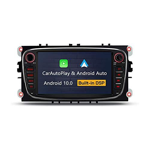 JIBO para Ford Focus 7' Android 10.0 Auto Estéreo Navegacion GPS Cabeza Unidad HD Tocar Pantalla Auto DSP Apoyo SWC BT5.0 DVR Dab + OBD Multimedia Jugador Video Receptor