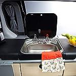 Kitchen-Sink-Lavello-Singolo-in-Acciaio-Inox-lavello-con-Copertura-in-Vetro-temperato-lavello-Multifunzione-lavello-Camper-lavello-Cucina-Lavanderia-e-lavello-ripostiglio