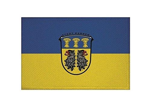 U24 Aufnäher Karben Fahne Flagge Aufbügler Patch 9 x 6 cm