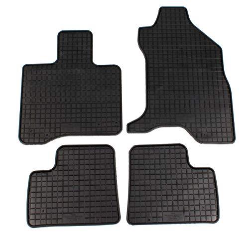 PETEX Gummimatten passend für i-MiEV ab 12/2010 Fußmatten schwarz 4-teilig