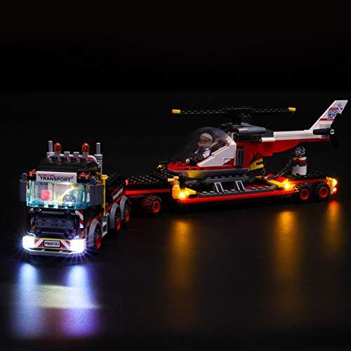 iCUANUTY Set di Luci per Lego Trasportatore Carichi Pesanti, Kit Luce LED Compatibile con Lego 60183 (Non Include Il Modello Lego)