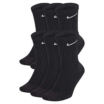 Nike Everyday Cushion Crew Socks Unisex Nike Socks Black/White M  Pack of 6 Pairs of Socks