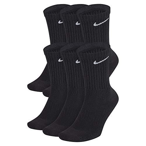 Nike Men Everyday Cushion Crew Training Socks (6 Pair) - Black/White, M