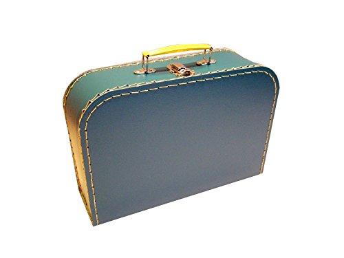 Cardboard suitcase, petrol blue, medium, 30 cm