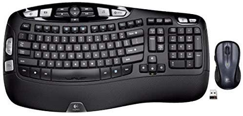 Logitech MK550 Wireless Wave K350 Keyboard and Mouse Combo — Includes Keyboard and Mouse, Long Battery Life, Ergonomic Wave Design with Wireless Mouse (with Mouse)