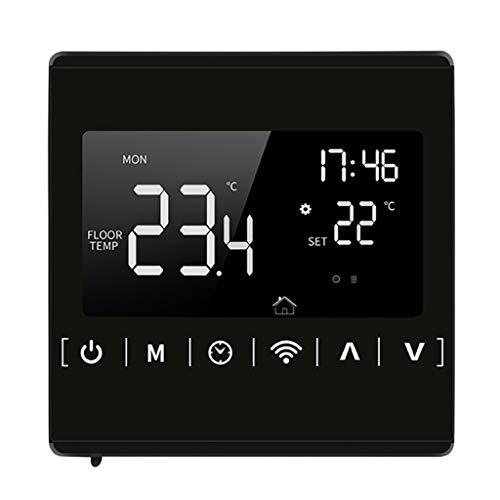R-WEICHONG Termostato de calefacción WiFi 16 A, temperatura ambiente, mando a distancia, CA 85 ~ 250 V