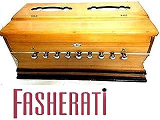 FASHERATI MUSICALS ARMONIO 9 STOPS, 3 1/2 OCTAVE, DOBLE REED, CLUTCH, color natural, estándar, BEECH, bolsa acolchada, A440 TUNED, INSTRUMENTO MUSICAL INDIANO
