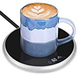 Coffee Mug Warmer & Cup Warmer for Desk, Electric Beverage Tea Warmer with Timing & Temperature Control, Coffee Warmer Plate for Cocoa Tea Water Milk, Candle Wax Cup Warmer Heating Plate